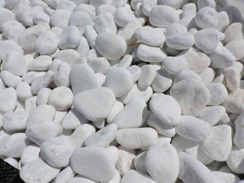 Jardin cales el pantano piedras naturales - Canto rodado blanco ...